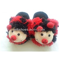 Kids Plush Slippers with Animal Ladybug Styles