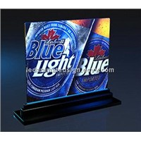 Colorful LED edge lit sign display for club