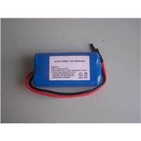 Li-ion 18650 7.4V 2000mAh battery pack