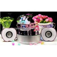 MP3/MP4 crystal piano music box with controller