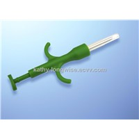 Microchip syringe, chip enbedded in syringe, veterinary microchip