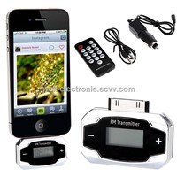 Mini LCD Vehicle Radio Audio MP3 Music Player Car FM Transmitter Hands Free for iPod iPhone