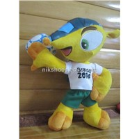 New 2014 Brasil World Cup mascot Fuleco brinquedos Tricolor armadillo doll plush stuffed Toys