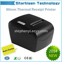 New 80mm thermal pos receipt printer RS-232/Parallel/USB/Ethernet interface Partial Cutting