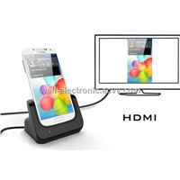 New USB Desktop Charger Data Sync HDMI Cradle for Samsung Galaxy S4 i9500 A1161A