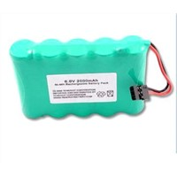 Ni-MH 2000mAh 6V batteries pack