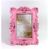 POLYRESIN CLASSIC ROSE PHOTO FRAME 4X6''