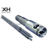 PVC conical twin screw barrel