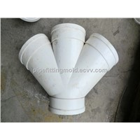 Plastic PVC straight cross over pipe fitting mould