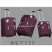 Purple Durable Boarding Trolley Carry-on Spinner Nylon Soft Case
