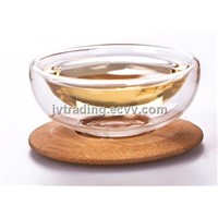 RELEA High Quality Glass Bowl With Tray