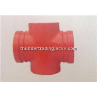 Reducing Cross(Threaded) for Fire Pipe, Pipe Fittings, Groove Fittings