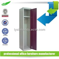 Single door clothes metal locker