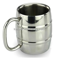 Stainless steel beer mug double wall mug