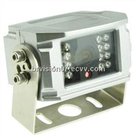 Stainless steel rear view camera, wide angle view waterproof housing design night vision, audio