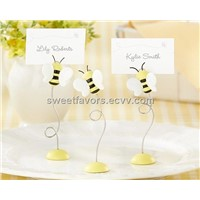 """Sweet as Can Bee!"" Baby Bee Place Card Holder (set of 6) baby shower wedding favors party gifts"