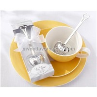 "Tea Time"" Heart Tea Infuser in Tea-Time Gift Box centerpieces wedding favors party favors s"