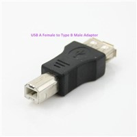 USB A Female to Type B Male Adapter