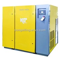 VSD rotary screw air compressor direct driven