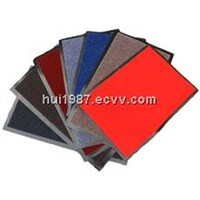 Velour carpet mat with PVC/rubber  backing