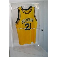 Wall Mounting Acrylic Jersey Display Case Football Basketball Jersey Frame,With Hanger Inside