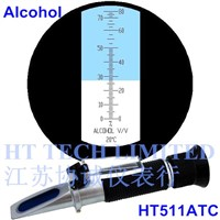Wine/alcohol refractometer with ATC 0-80V/V