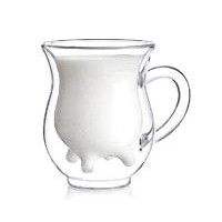 double wall borosilicate glass milk cup