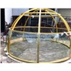 glass dome with stainless steel frame