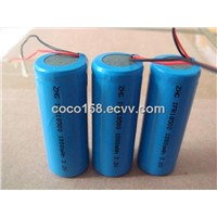 18500 LiFepo4 battery pack 1000mah/1100mah