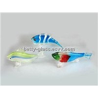 Beautiful Glass Tropical Fish Handmade Small Figurines Fish Bowl Inner Decorative