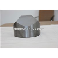 Cemented carbide anvil for diamond production