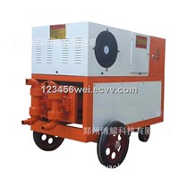 Double hydraulic and cylinder grouting pump