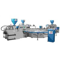 Full  Automatic 3 Color TPR &PVC Sole Injection moulding machine