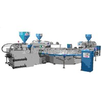 Full Automatic 3 Color TPU &TR Sole Injection Moulding Machine