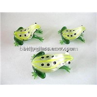 Glass Animal / Glass Fishbowl Decorative / Glass Frog(HE022)