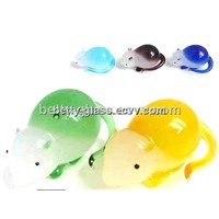 Handmade Glass Material Animal Color Glass Mouse Gift China Supplier Factory Price