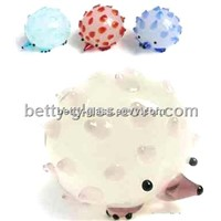 Fashion Glass Crafts Glass Small Animal Cute Small Hedgehog Friend Gift Color Glass Figurines