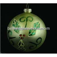 Holiday Glass Ball Gift Hand Made Painting Glass Christmas Ball Gift