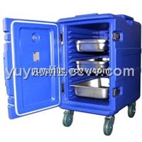 Insulated container, rotomold plastic container for food