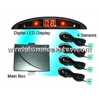 Mini LED Display Wireless Car Parking Sensor System Car Safety Parking System