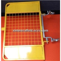 Powder coated universal ladder safety gate
