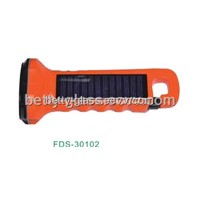 Solar Flashlight / Orange Solar Torch / 5 LED Portable Solar Flashlight