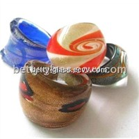 YCBT90125 Glass Ring Gift Set with Different Sizes and Styles Beautiful Creative Glass Rings