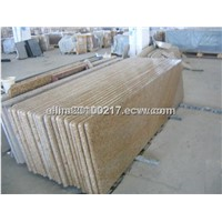 Yellow granite  stone slab for countertop