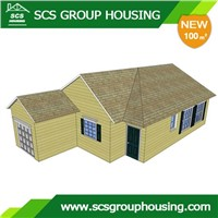 100m2 Modern House of Steel Structure/Earthquake Resistance_SCS GROUPHOUSING