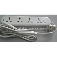 10A universal extension socket with Indian plug top