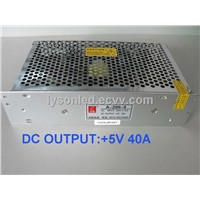 200W LED Display Power Supply / 5V40A200W 220V/110V