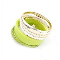 2014 Popular Acrylic Beads Bracelets Bangles With Multi-Colors