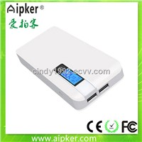 2014 newest full capacity xiaomi power bank 10400mAh / wireless power bank for iphones