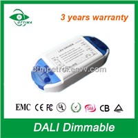 20W 350mA led dali dimming driver high PFC CE/PSE/RoHS 3 years warranty